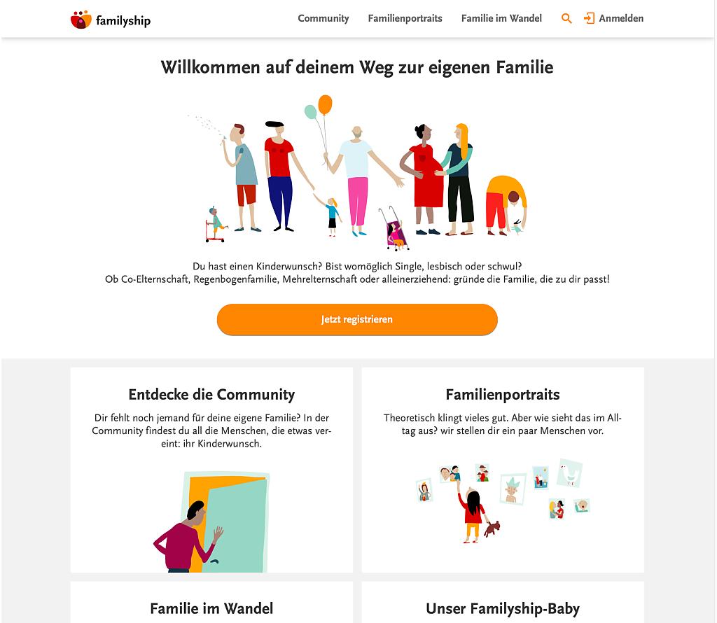 Neue Webseite von Familyship
